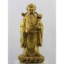 """Bronzefigur """"Glücksgott Lu"""", goldfarben"""