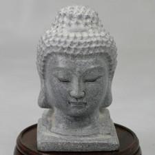 Buddha-Kopf Stein klein Garten Deko