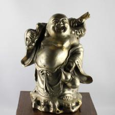 "Buddha-Skulptur ""Wandernder Budai"" Messing"