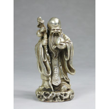 "Bronzefigur ""Glücksgott Shou"""