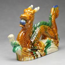 Chinesische Drachen Figur mit Drachenperle