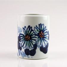 """Chinesische Vase """"Chrysantheme"""", Porzellan blau-weiß"""