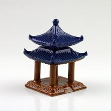 """Bonsai-Figur """"Großer Pavillon"""" quadratisch"""