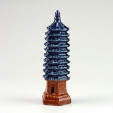 Chinesische Pagode, Keramikfigur, asiatische Garten-Deko (L)