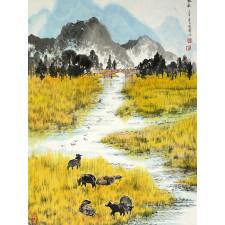 """Chinesische Malerei """"Frucht des Jahres"""", Peng Guo Lan"""
