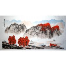 "Chinesische Malerei ""Das Ziel im Blick"", Peng Guo Lan"
