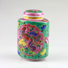 Chinesisches Teedose groß, Baba-Nyonya-Keramik