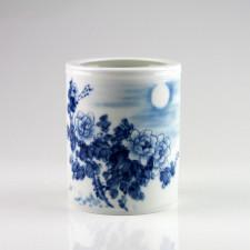 """Porzellan-Vase """"Chrysanthemen im Mondschein"""", chinesische Vase Porzellan"""