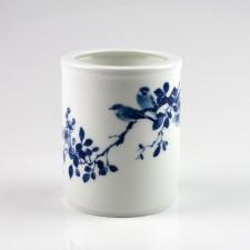 """Chinesische Vase """"Feldlerchen"""", Stiftehalter Porzellan"""