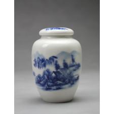 """Chinesische Teedose Porzellan """"Malerische Landschaft"""""""