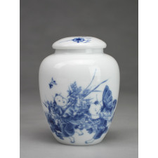 """Chinesische Teedose Porzellan """"Spielende Kinder"""""""