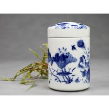 "Chinesische Teedose Porzellan ""Lotos"""