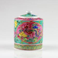 """Chinesisches Teedose """"Baba-Nyonya"""",  Porzellan-Zuckerdose"""