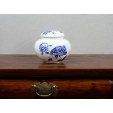 """Chinesische Teedose """"Pfingstrose"""" Porzellan blau weiß"""
