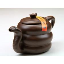 """Yixing Teekanne """"Chinesische Tierkreiszeichen – Die Schlange"""""""
