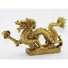Chinesischer Drache Long Messing Figur groß