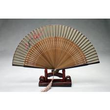 """Chinesischer Handfächer """"Blüte im Abendrot"""", Asiatischer Fächer"""