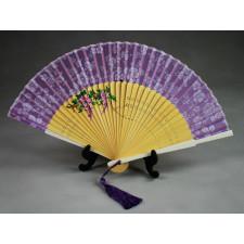 """Chinesischer Taschenfächer """"Blühender Blauregen"""", Handfächer"""