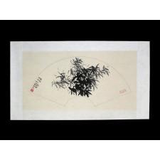 """Chinesisches Fächerbild """"Rein wie Jade, Pur wie Eis"""", Peng Guo Lan"""