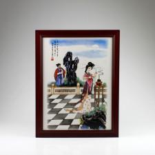 "Chinesisches Porzellanbild ""Diaochan"", Wandbild Keramik Fliese"