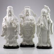 "Porzellanfiguren Set ""Die drei Sterne"", Sanxing"