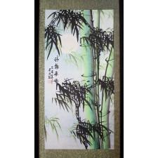Rollbild, Bambus im Mondschein