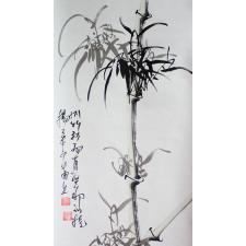 """Rollbild """"Bambus – Die Vier Edlen"""""""