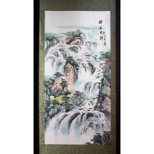 """Chinesisches Rollbild """"Rauschender Wasserfall"""""""
