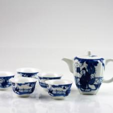Teeservice blau-weiß, chinesisches Tee-Set