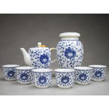 "Chinesisches Teezeremonie Set mit Teedose ""Lotusornament"""