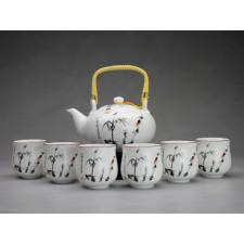 """Chinesisches Teeservice aus Porzellan """"Bambus am Teich"""""""