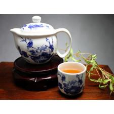 """Chinesisches Teeservice aus Porzellan """"Vogel im Blütenmeer"""""""