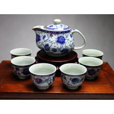"""Chinesisches Teeservice aus Porzellan """"Kaiserliche Pfingstrose"""""""