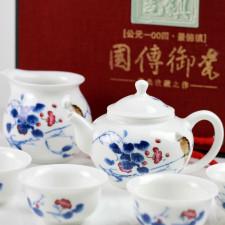 Chinesisches Porzellan Teeservice, asiatische Teekultur