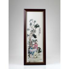 """Chinesisches Porzellan Bild """"Malerei"""", Wandbild Vier Künste"""