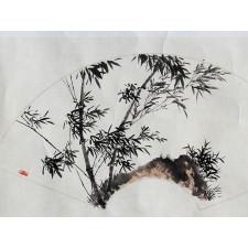 """Chinesisches Fächerbild """"Freier Geist"""""""