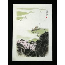 """Chinesische Tuschezeichnung """"See der Ruhe"""""""