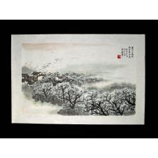 """Chinesische Tuschezeichnung """"Duft des nahenden Schnees"""""""
