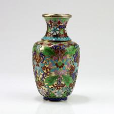 "Cloisonné-Vase ""Kaiserliche Blütenpracht"""