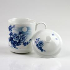 Chinesische Deckeltasse Porzellan