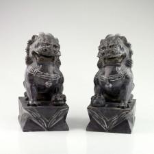 Fu-Hunde Stein-Figuren Wächterlöwen
