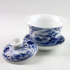 Chinesische Porzellan-Deckeltasse, Gaiwan