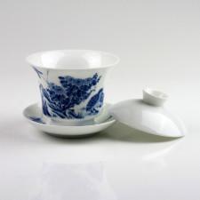 """Gaiwan """"Mut und Beständigkeit"""", chinesische Teetasse mit Deckel, Sammlertasse"""
