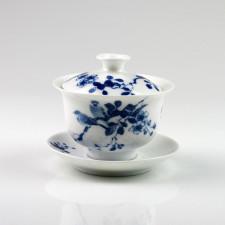 Chinesische Porzellan-Deckeltasse, Gaibei