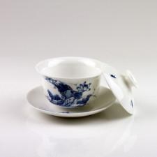 """Gaiwan """"Lotosblume"""", chinesische Porzellan Tasse mit Deckel"""