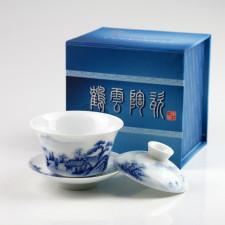Chinesischer Gaiwan, Deckeltasse Porzellan