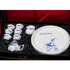 """Chinesisches Teeservice """"Flusskrebse im Spätherbst"""" Manufaktur Guzhen"""
