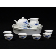 asiatisches Teeservice Porzellen
