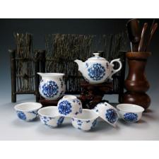 """Chinesisches Teeservice """"Ewiges Glück"""" Manufaktur Guzhen"""