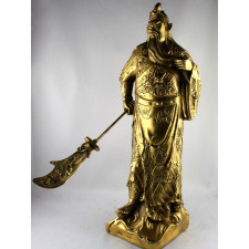 Guan Yu Statue Metallfigur Messing Skulptur